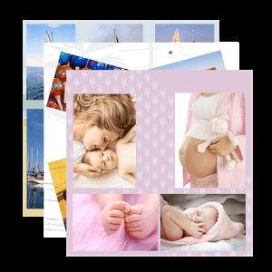 Impression photos couleurs sur pêle mêle
