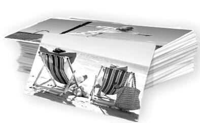 Impression photos noir et blanc sur papier Ilford