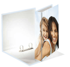 Impression photos couleurs sur pA4 CLASSEUR AVEC 2 ANNEAUX